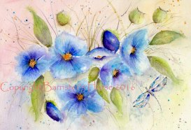 blue poppies copyright
