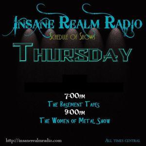 Insane Realm Radio Thursday show schedule
