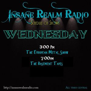 Wednesdays on Insane Realm Radio