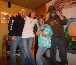 Stacy *husband/road manager); ChristiAna (singer-songwriter and Stacy's wife), Bootsy and Nick having fun in the Basement!