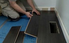 Snap together hardwood floor