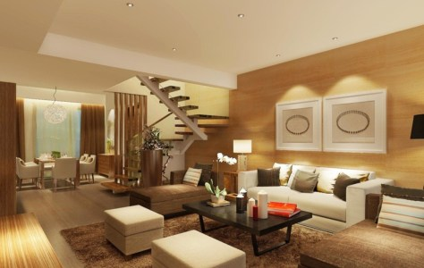 Wood living room furniture