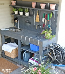 potting bench storage solution