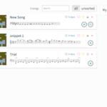 Screenshot of my ScoreCloud dashboard