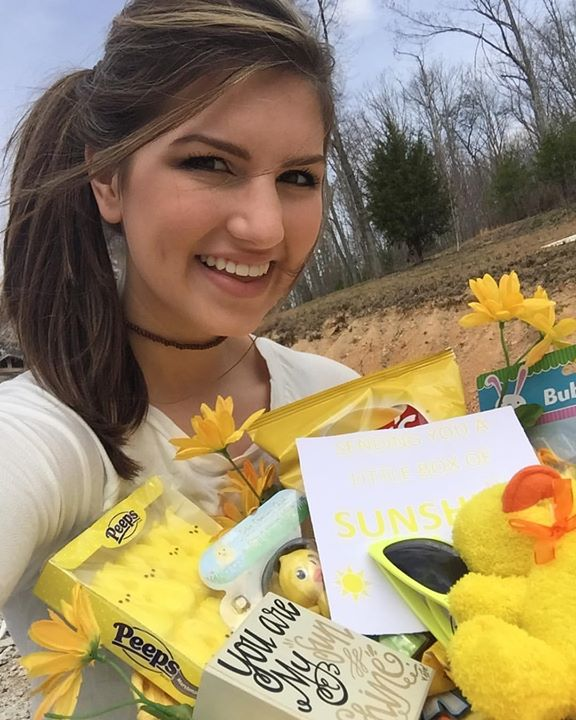 """When your boyfriend surprises you with a """"You are my sunshine"""" themed basketful of…"""