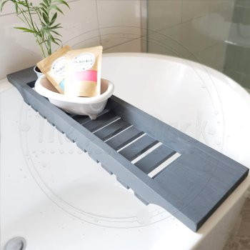 Bath Board Rack Tray Chunky Grey