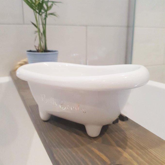 Bath Bombs Storage White Small Bath 1