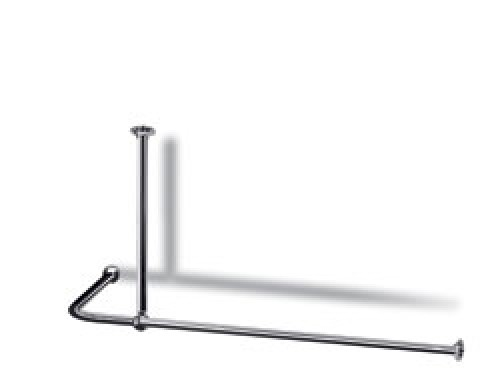 l shaped shower curtain rail with