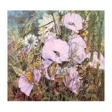 Pink Flowers - Limited Edition Giclee Art Print by John Bathgate