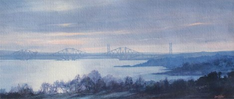 Forth Bridges from Aberdour by Jan Fisher