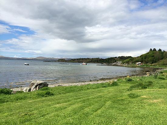 Carsaig Bay looking towards Carsaig Island