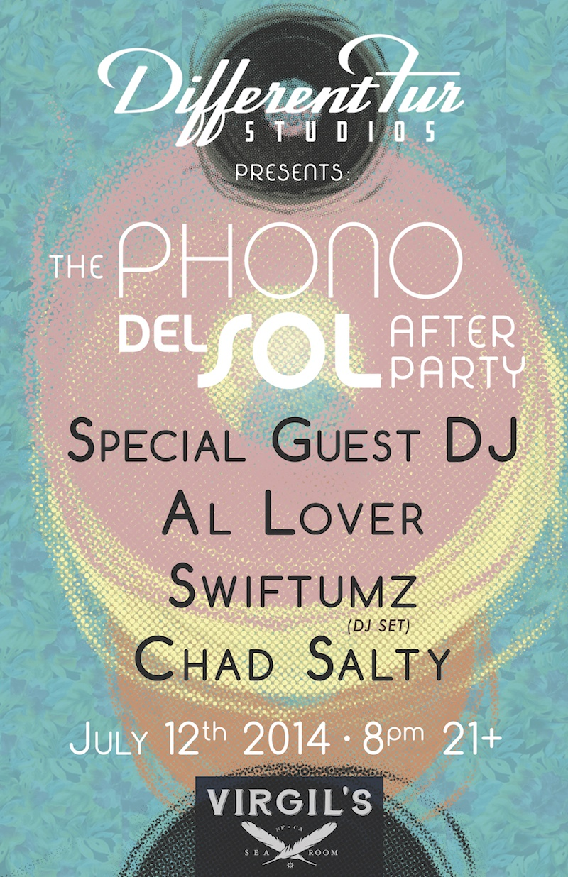 Phono del Sol Post-Party SG Poster