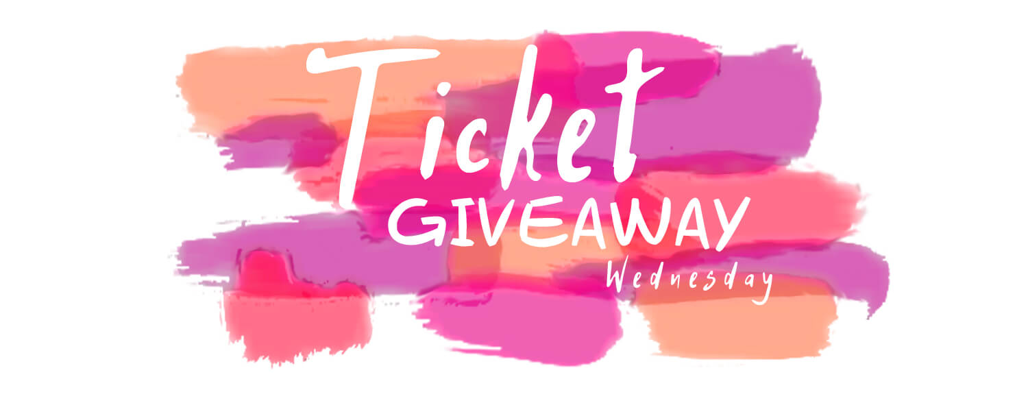 paint ticket giveaway white background