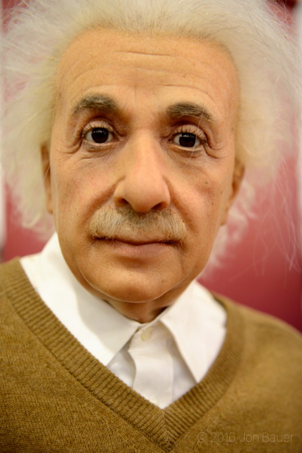 Albert Einstein Wax Silicon Valley Comic Con at the San Jose Convention Center, by Jon Bauer