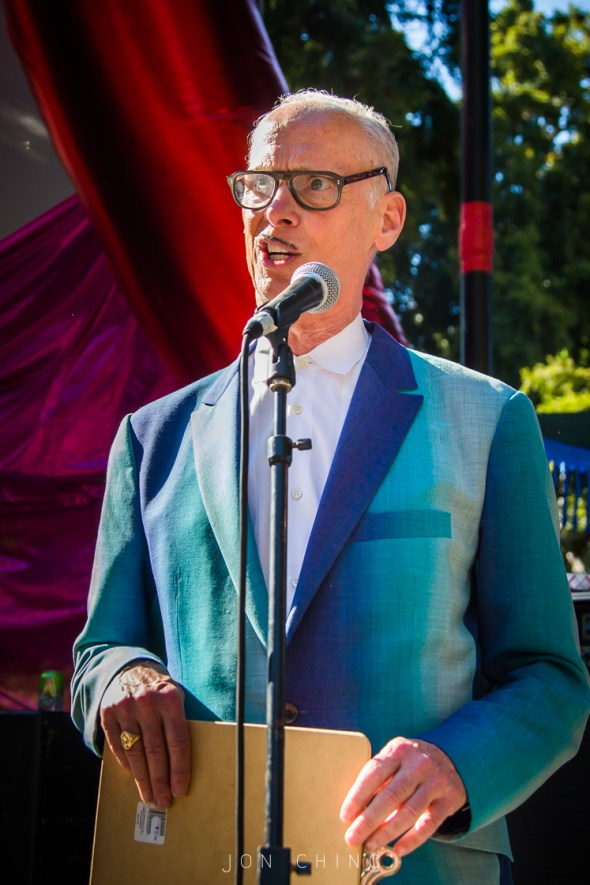 John Waters at Burger Boogaloo, by Jon Ching