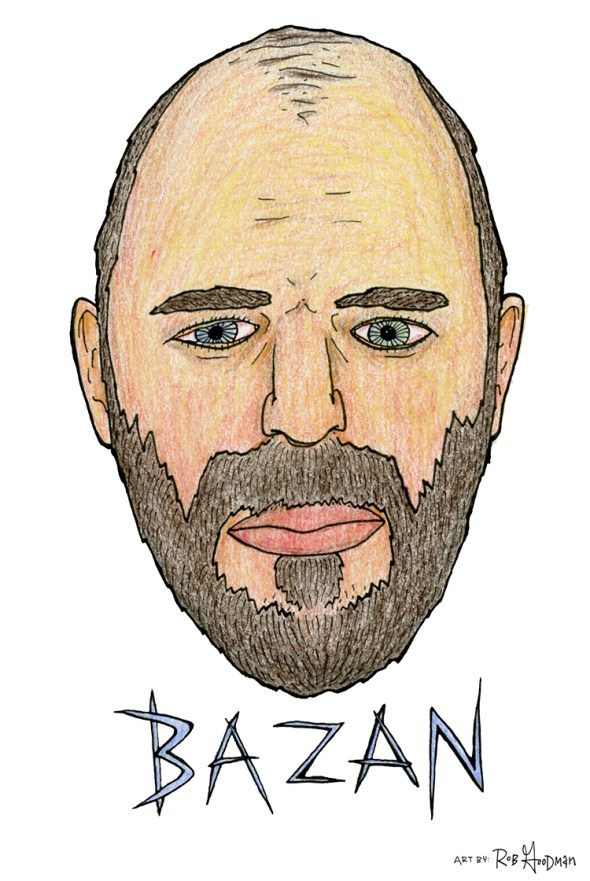 David Bazan Illustration, by Rob Goodman
