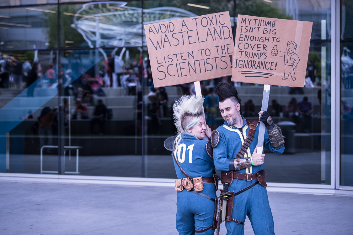 Fallout Vault Dwellers at Silicon Valley Comic Con 2017, by Robert Alleyne