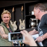 Mike Dirnt at the Williams Sonoma Culinary Stage at BottleRock Napa 2017, by Patric Carver
