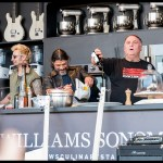 Mike Dirnt Robert Trujillo and Chef Jose Andres at the Williams Sonoma Culinary Stage at BottleRock Napa 2017, by Patric Carver