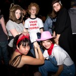 Concert attendees sport Halloween costumes at Uncool Halloween at UC Theatre in Berkeley