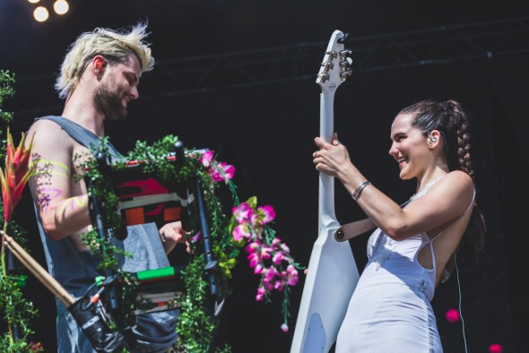 Sofi Tukker at Openair St. Gallen 2018 in Switzerland, by Ian Young