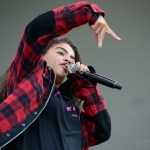 Jessie Reyez at the Outside Lands Music Festival 2018, by Jon Bauer