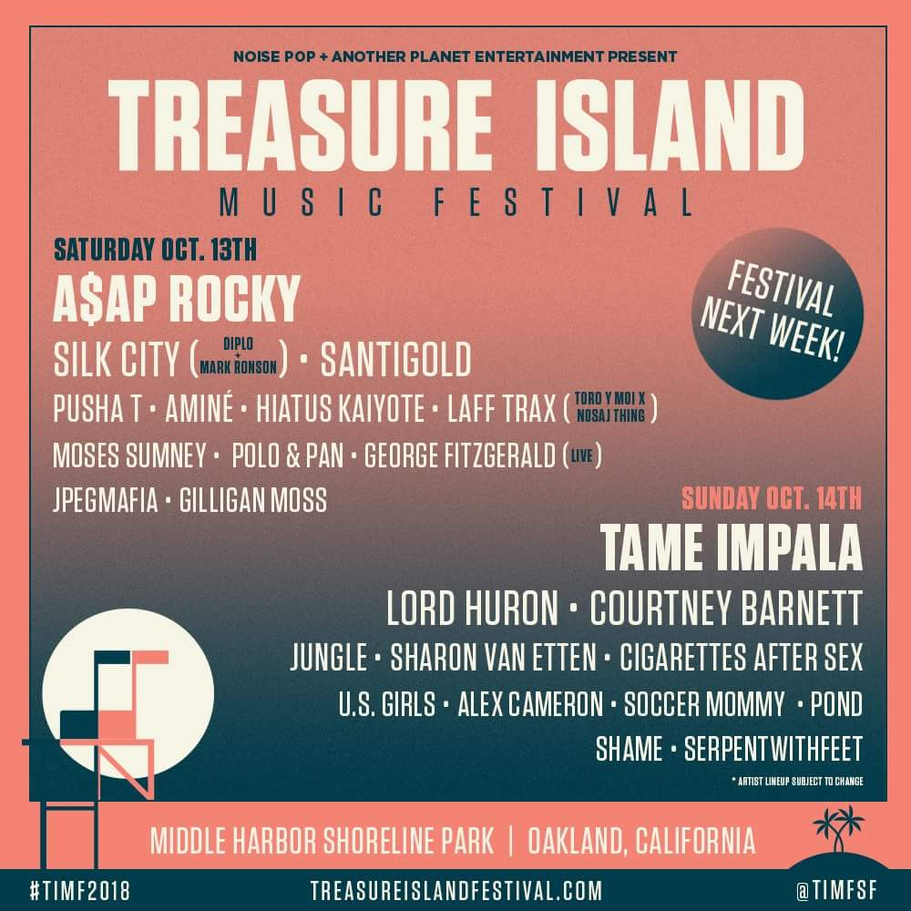 Treasure Island Music Festival 2018 Lineup