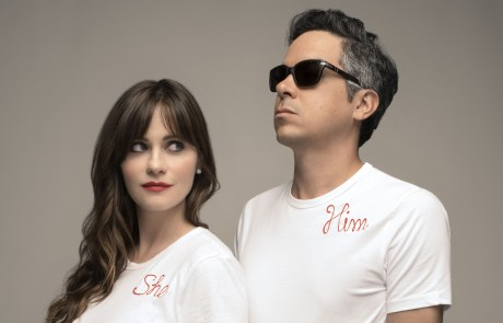 She + Him throw the coolest holiday party at the Masonic