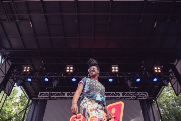 Tierra Whack at Sol Blume 2019 at Cesar Chavez Plaza, by Robert Alleyne