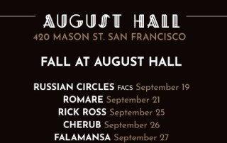 August Hall fall lineup