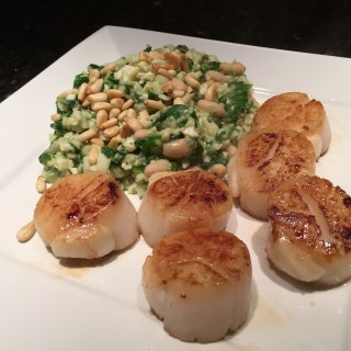 Seared Scallops with Cauliflower Risotto