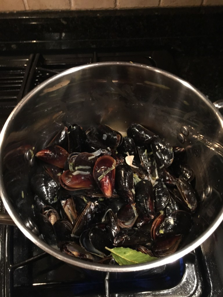 Adding the mussels