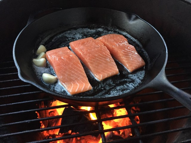 Crispy Skin Salmon on the Big Green Egg