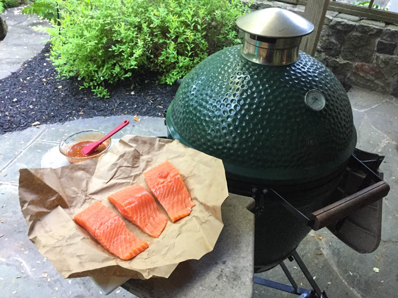 Big Green Egg Spicy Korean Salmon