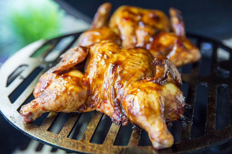 Big Green Egg Asian Style Cornish Game Hens