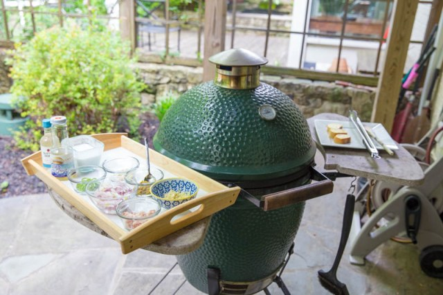 Big Green Egg Thai Green Curry Mussels
