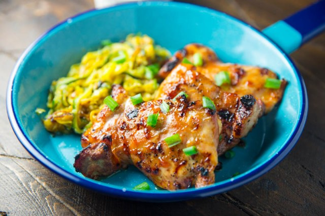 Big Green Egg Sweet and Sour Chicken Thighs