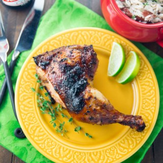 Big Green Egg Jerk Chicken
