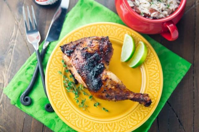 Big Green Egg Jerk Chicken
