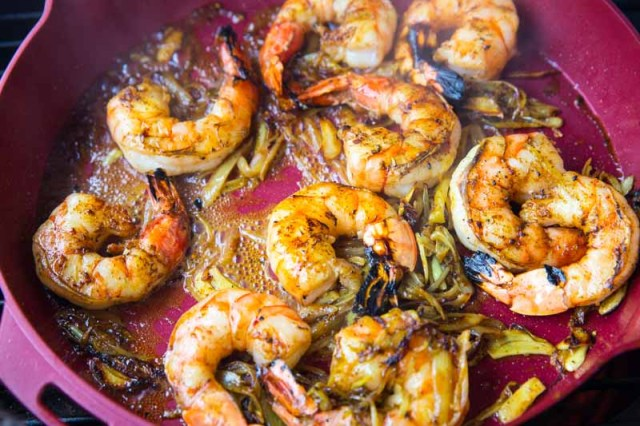 Grilled Vadouvan Curry Shrimp