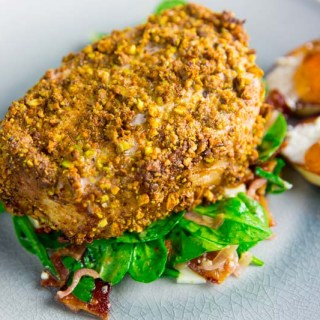 BGB Chopped Challenge Pistachio Crusted Pork Chop