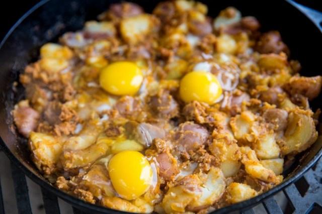 Crispy Chorizo and Potato Breakfast Hash