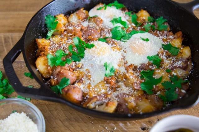 Crispy Chorizo Potato Breakfast Hash