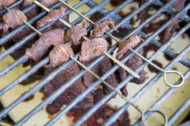 Homemade Beef Jerky Kamado Grill Style
