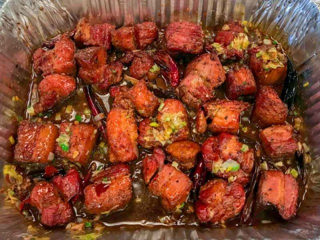 Kung Pao Smoked Pork Belly