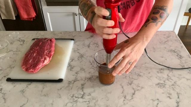 Grilled Korean Marinated Flank Steak