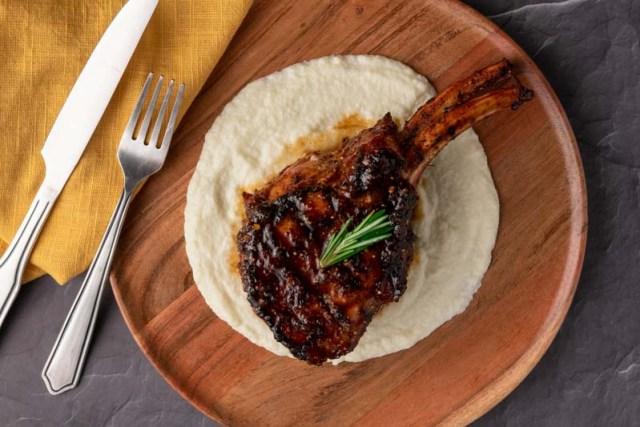 Grilled Kurobuta Pork Chops with a Fig Jam Glaze