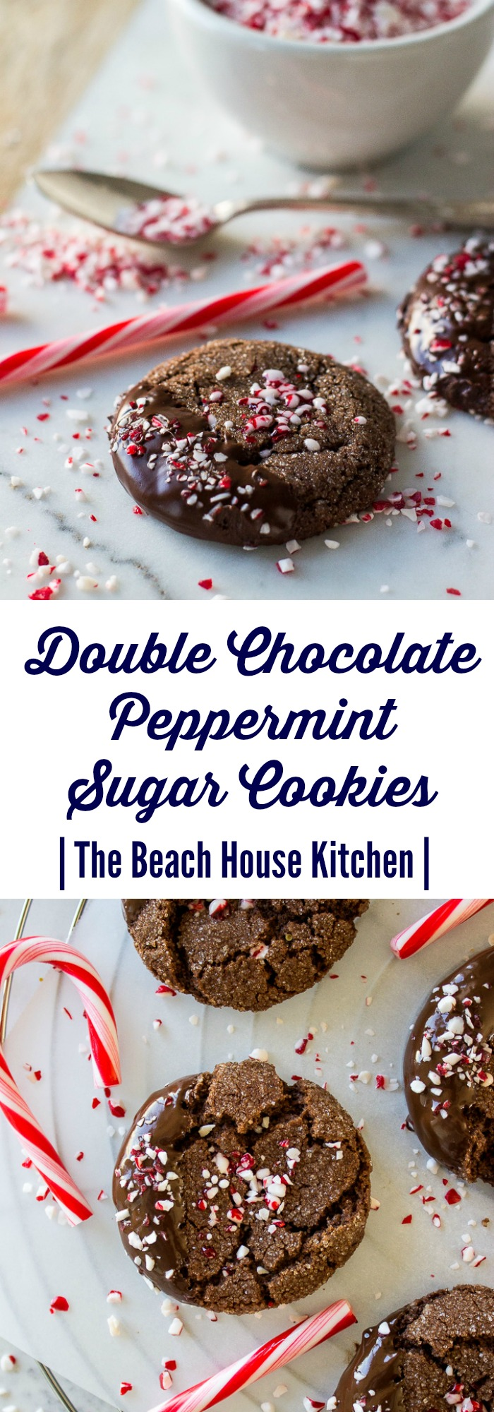 Double Chocolate Peppermint Sugar Cookies
