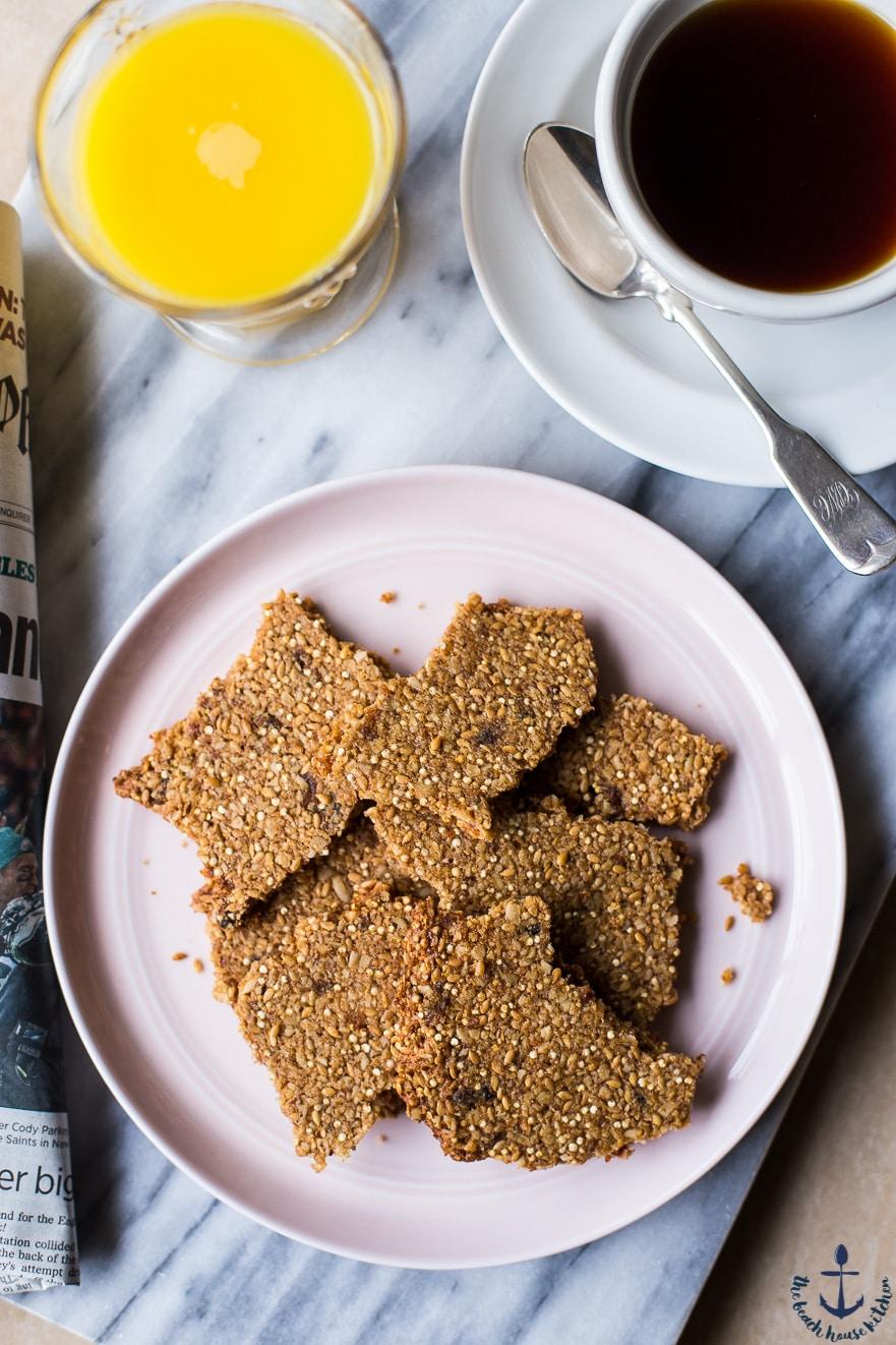 Oatmeal Raisin Breakfast Crisps