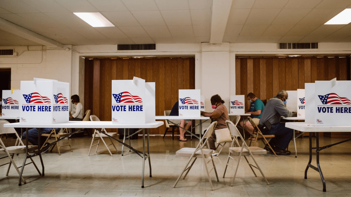 Voters in Kansas City, Missouri cast their ballots during the state's primary elections Aug. 4. (Chase Castor/The Beacon)